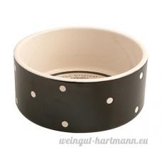 noir blanc à pois pot en grès chien eau Bol à nourriture 18.5cm x 8.5cm - B07C2VPM2M