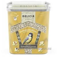 Delicia Jardin Mangeoire à oiseaux de tournesol Seau 3kg - B01LELOXKQ