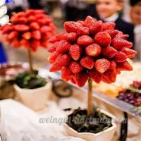KINGDUO 100 PCs/Pack fraise arbre graines de fruits frais bonsaï graine jardin bricolage plantation - B07D599MPG