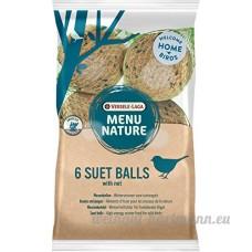 Boules de graisse pour oiseaux de la nature Versele Laga Menu Nature - Sachet de 6 boules de 90 g avec filet - B077GTS4GN