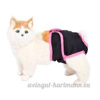 Surepromise Culotte Hygienique en Coton pour Chien Chienne Chiot Chat Incontinent en Chaleur - B01MZ6269S