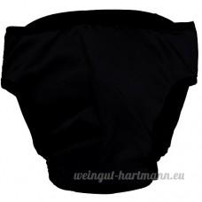 Pinzhi - Culotte Sanitaire Sous-Vêtement Menstruel pour Chien Couche Bretelles Coton Lavables pour Animal  Noir XL - B01N0EKYZJ