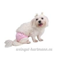 Molie Culotte Sanitaire Physiologique pour moyen petite chienne chiot animal femelle - B01M0ELY2H