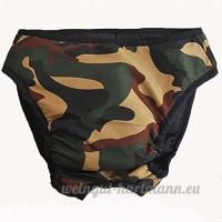 Pinzhi - Culotte Sanitaire Sous-Vêtement Menstruel pour Chien Couche Bretelles Coton Lavables pour Animal  Camouflage L - B01NA6NUMU