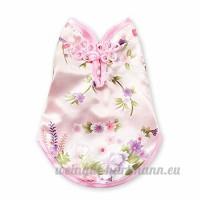 CXYP Vêtement Chien Chat Été Rose Petite Taille Cheongsam Élégant Respirant Doux Forte Absorption de la Sueur Naturel Durable Pas de ballon (XS  Rose) - B07CZFBBZH