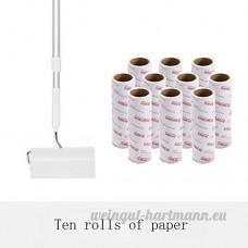 Aichong Les cheveux peuvent être collants collants déchirés rouleau papier tapis pour Pinceau à poussière collante rouleau laine feutre artefact type tambour Sticky roll (Rod) papier 10 - B07CYT25MF