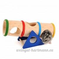 Arc en Ciel Bascule Baril Hamster En bois Bascule Jouets Arc en Ciel Bascule Jouets Pour Petits animaux 16 8 * 7 8 * 10CM - B01M0HBOLQ