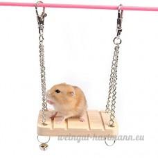 Hunpta pour animal domestique Hamster Mouse Wood Swing Hamac Play Jouets Cage pour petit animal à suspendre à bascule - B0773L8JXN
