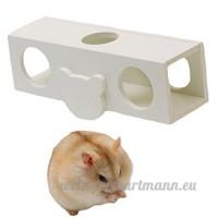 Wdoit 1pcs Hamster Bois Jouets outils de Molaires jouet pour animaux domestiques Fournitures Alice tonneaux balancier Couleur - B075T1GL5D