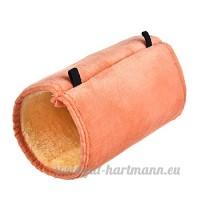 Yunt Tunnel pour Petit Animal de Compagnie Hamster / Écureuil / Perroquet (Orange) - B074P1Z857