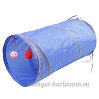 Boodtag Jouet Tunnel Pour Animal De Compagnie 2 Way Forme Pliable Domestique Chiot Chat (bleu) - B078X31HC2