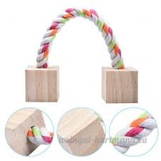 Petits Animaux Hamster Boîte à jouets à mâcher de dents en bois - B072HX151Z