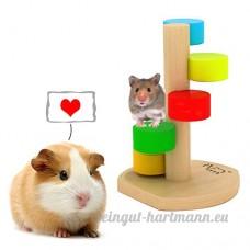 Hamster Escalade Jouet d'escalade Rainbow Swivel Jumping Jouer Exercice Jouets pour Chinchillas et Cobayes Petits Animal de Compagnie Jouet à Mâcher Pour Awhao - B071RL7PRX