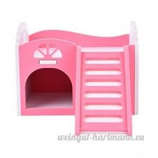 5Five Petit Animal Lits superposés d'escalade jouet pour petit animal Maison avec escalier pour hamster et chinchillas et cochons d'Inde Funny Toys Play Toys Jouet à mâcher- Rose - B071NVNSB5
