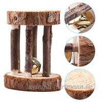 Petit jouet pour animaux en bois Bell Roller Lapin Hamster Rat jouet d'exercice - B071L966HD