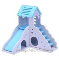 Everpert étanche amovible les escaliers du pont de double couche Villa Hamster couchage Nid - B07DHMPNS1