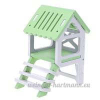 Everpert Panier pour animal domestique Nid pour hamster en bois Climb Cage pour petit animal de couchage - B07DHLQW1N