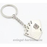 Mindruer Poker Porte-clés Porte-clés Pendentif Poker Royal Flush Lovely Porte-clés - B07D6HDY1L