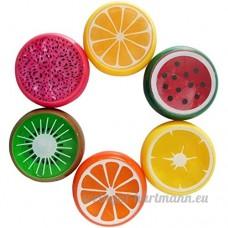 Rcdxing Six pcs Main Smart gomme à modeler Cristal Fruits Argile en caoutchouc Boue enfant Jouets Slime-random - B07D5YTTBJ