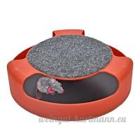Fang-pets-supplies  Jouet pour animaux de compagnie  Pet Kitty Chat Jouet Interactif Platine Pet Jouet Formation Amusement Plaque Crazy Mouse (Color : Red) - B07D5RB6DL