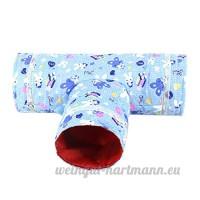 Naturel jouet Tunnel Raschel Tunnel Roseau Maison Nest Grotte pour hamster Rongeur Cochon d'Inde Rats Petit Rongeur petits animaux lapin avec trigonal Design - B075NK6FMD