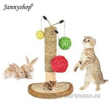 Jannyshop Arbre à Chat Jouet avec Boules en Rotin Naturel pour Animal de Compagnie - B075D4ZWZ2