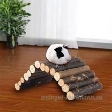 Petit cochon d'Inde Hamster Jeu Jouets en bois pour clôture à mâcher Jouets - B072BQD8XR
