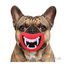 Fablcrew pour animal domestique Chien Chiot dents à mâcher jouer Silicon Toys fantaisie son chien Jouets pour chiens et animaux Rouge - B0752BSL2S