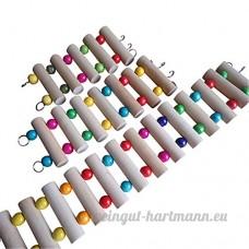 Momangel Multicolore Hamster Parrot Ladder pont en bois Bridge rampants jouet - B0744DNGPZ