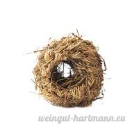 Animal Lapin Hamster Cochon d'Inde tissé Herbe Boule de Bell Chewing jouer jouet - B0741936LM