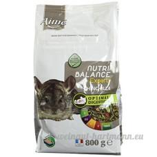 Aime Nutri'Balance Expert Nourriture pour Chinchilla 800 G - Lot de 3 - B010G048HY