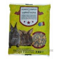 Agrobiothers Nourriture Mélange Complet pour Lapin 3 Kg - B00EUAGUZK