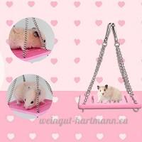 Zaote balançoire en bois Sport exercice jouet pour rat Hamster souris - B07286TC9X