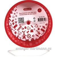 Zolux Roue Pied en Métal pour Petit Mammifère Rouge 20x14x22cm - B00SJ0AV34