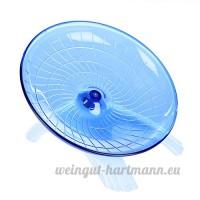 Awhao 18cm Roue pour Petit Animal Roue d'Exercice pour Hamster / Chinchilla / Gerbille ect (Bleu) - B073XM6B3R