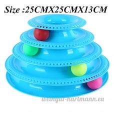 Ocamo Funny Cat Crazy Boule Disc pour animal domestique plaque de jouets interactifs d'attractions Play disque platine jouet pour chat  4couches - B07D75V2G3