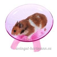 Yuccer Roue D'exercice  Plastique Disque de Course pour Hamster Wheel Chinchillas  Rats Petits Animaux Disque D'exercice (Rose) - B07D36S2KF