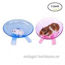 Yuccer Roue D'exercice  Plastique Disque de Course pour Hamster Wheel Chinchillas  Rats Petits Animaux Disque D'exercice (Bleu + Rose) - B07D36P9DG