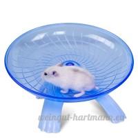 Zantec Soucoupe volante Roue d'exercice pour petits animaux  18cm/18cm les hamsters cours  disque  Confort jouet pour animaux domestiques Bleu - B079R93D22