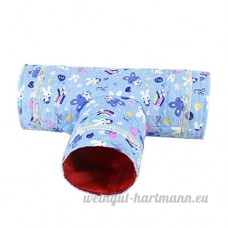 Beiguoxia Pet Petits Animaux Mini T Forme droite Tunnel Tube Chiffon Cachette jouer jouet - B077D5S8FN
