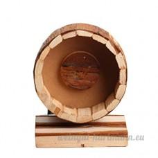 Omem Petits Animaux d'exercice Roues Fournitures ultra-silencieux Hamster exercice Roues faite à la main en bois Jouet - B01NCFGY6M