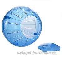 Balle d'exercice en Plastique pour Hamster Mammifères pour Animaux Domestiques Rongeurs Gerbil Rat Jouer au Jouet Par Awhao Bleu - B072LQPRK2