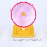Pet Online Roue d'exercice Hamster mute en plastique jouet tapis roulant roue d'exercice pour petits animaux  14cm  rose - B075NHMF65