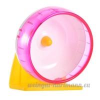 Roue pour Hamster Exercice Sport Jouets en Plastique Pour Hamster Petit Souris par Awhao Rose S - B071P4ZFPQ