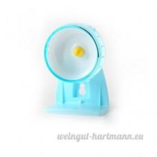 Pet Online Roue d'exercice Hamster mute en plastique jouet tapis roulant roue d'exercice de formation  12cm  bleu - B075NG4KJ2