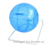 Balle Souris Fitness Exercice Fun Toy Wheel Cage Clear Blue - B01F3UI2RO