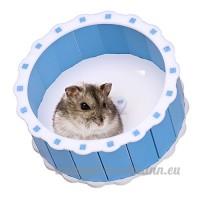 Silencieux en acrylique Course Spinner Roue d'exercice pour hamster souris Rat Souris Jouet pour animal domestique - B01E8NYB9A
