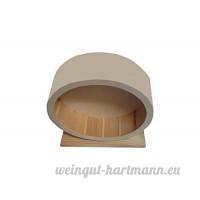 Emcke ROUE bois avec surface de course fermée 21 cm en clair - B00NDSPBB4