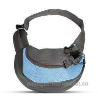 PETCUTE Pet Sling Chat Puppy Carrier Mesh épaule Carry Bag Sling Mains-Libres Sac de Voyage Bleu - B07C237CHK