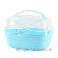 Carno Plastique Bento Box Forme Portable extérieur de voyage de transport pour animal de petite taille (couleur varie) - B01MEH2ICF